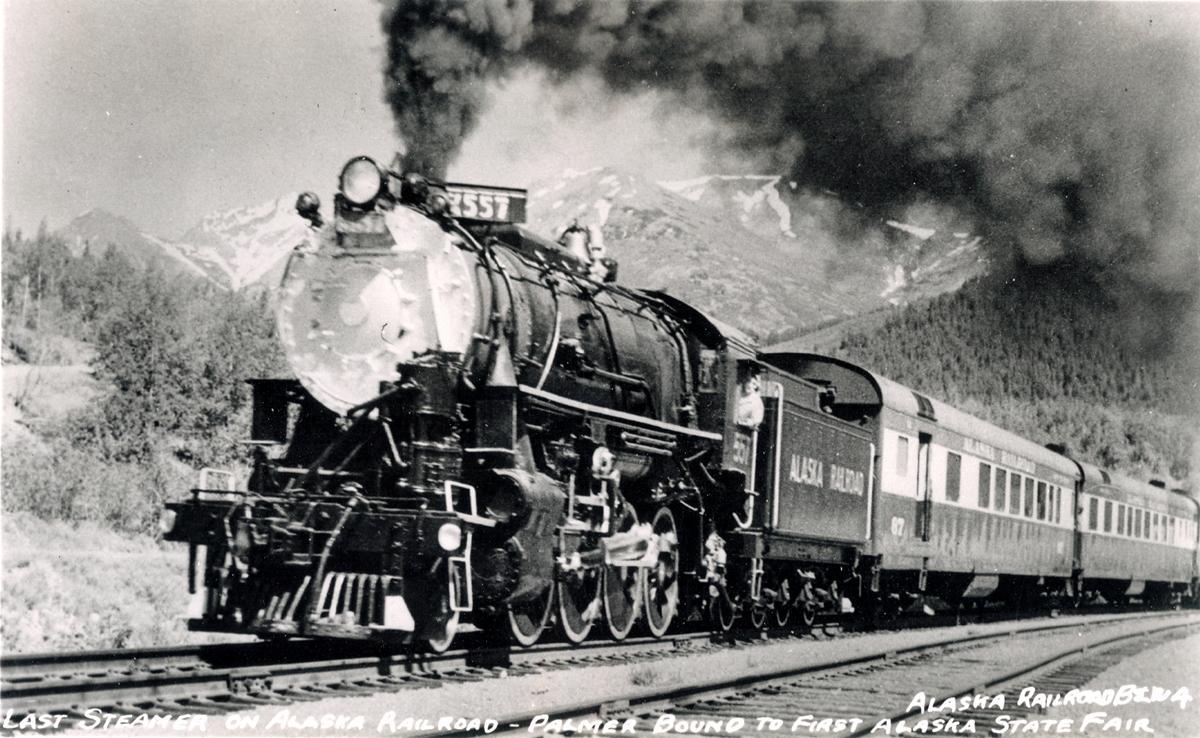... Last steamer on Alaska Railroad Palmer bound to first Alaska State Fair  · 557 ...