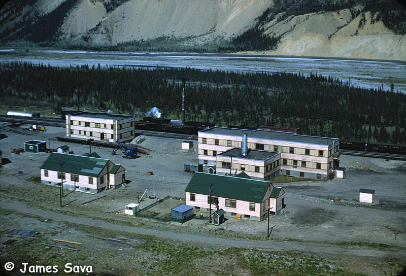 Healy Alaska Depot Hotel 1952 Green Roof Buildings Are Railroad Housing